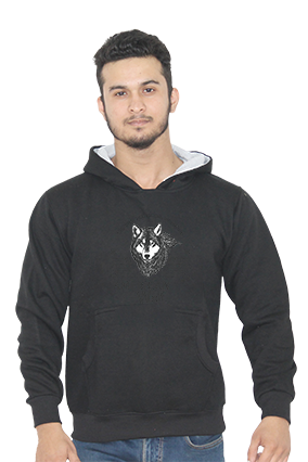 American Wolf Full Sleeves Black Hoodie