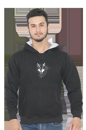 American Wolf Full Sleeves Black Hoodie