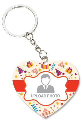 Colorful Heart Key Chain