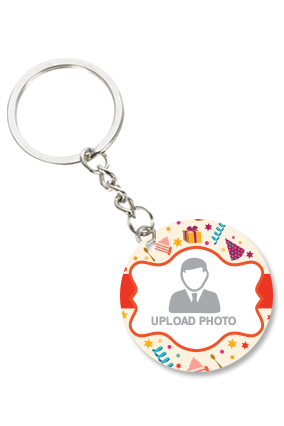 Colorful Round Key Chain