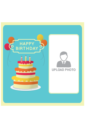 Personalized Happy Birthday Square Canvas Print
