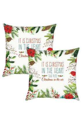 Christmas In Heart Cushion Cover