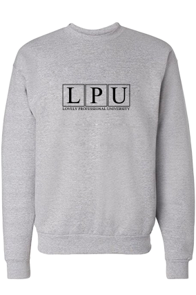 Awesome LPU Black Print Gray Men's Sweatshirt