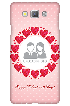 Samsung galaxy A7 Pink Hearts Valentine's Day Mobile Cover