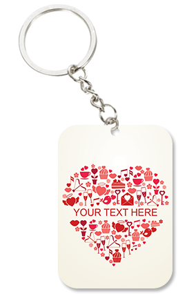 Lovable Big Rectangle Key Chain