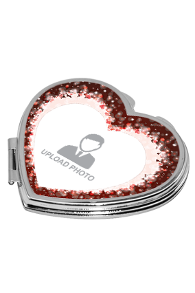 Sparkling Red Heart Mirror