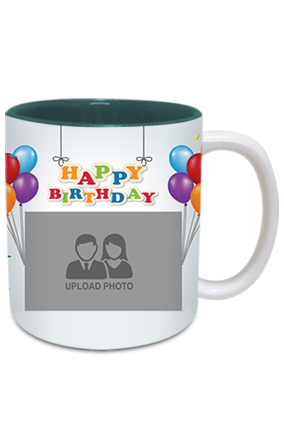 Happy Birthday Inside Green Mug