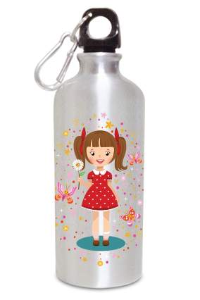 Cool Girl 600ml Silver Sipper