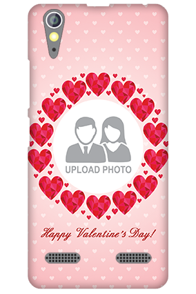 Custom Lenovo A6000 Pink Hearts Valentine's Day Mobile Cover