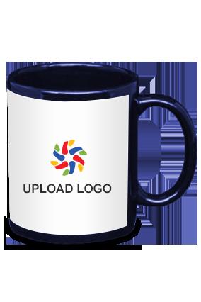 Upload Logo Blue Patch Mug