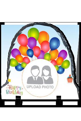 Happy Birthday Up Round Photo Rock