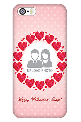 iPhone 5 Pink Hearts Valentine's Day Mobile Cover