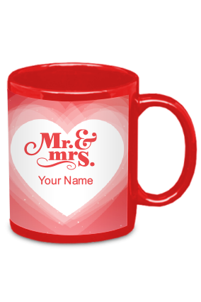 Mr and Mrs Red  Patch Mug
