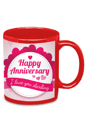 Anniversary Greetings Red Patch Mug