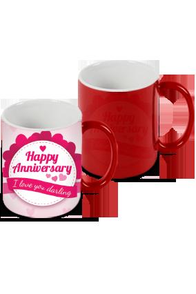 Anniversary Greetings Red Magic Mug