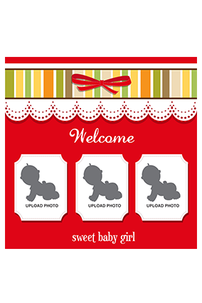 Custom Baby Girl Square Canvas Print