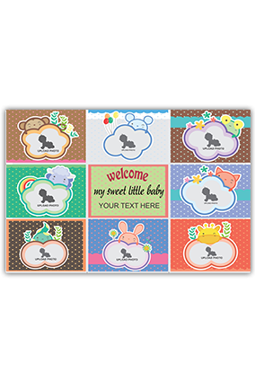 Customized Welcome Baby Canvas Print