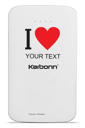 I Love You 10000mAh Karbonn Power Bank