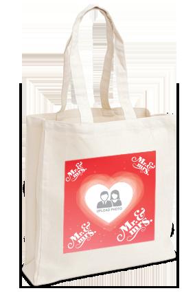 Printed Heartful Tote Bag