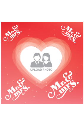 Customized Mrs & Mr Square Canvas Print