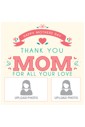 Custom Thank You Mother's Day Square Canvas Print
