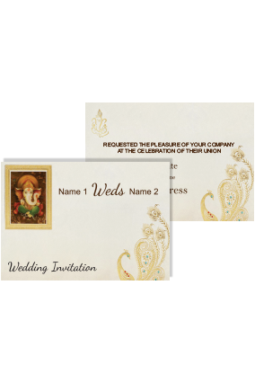 White Color Wedding Invitation Card