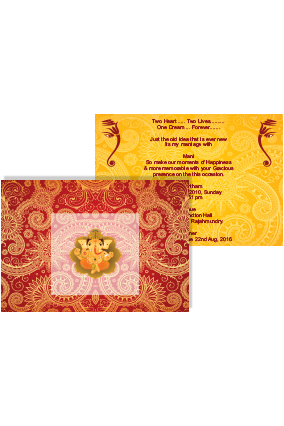 Decorous Wedding Invite