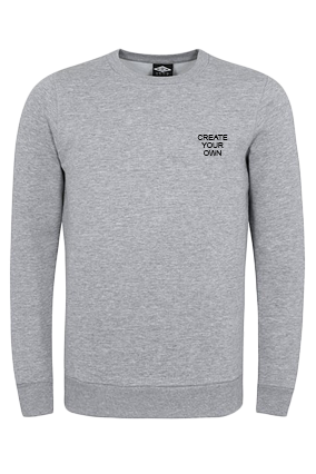 Business Umbro - Create Your Own Logo Gray Sweatshirt
