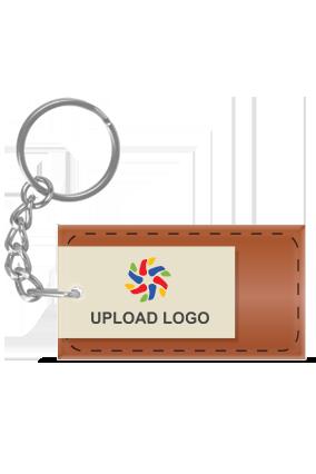 Brown Acrylic Rectangle Key Chain