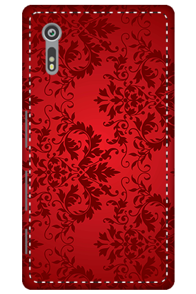 3D - Sony Xperia XZ Red Color Mobile Cover