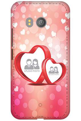 3D - HTC U11 Floral Hearts Anniversary Mobile Cover