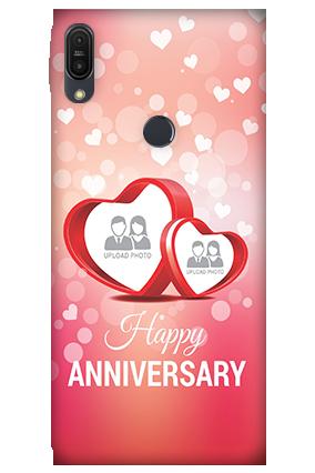 3D - ZenFone Max Pro M1 Floral Hearts Anniversary Mobile Cover