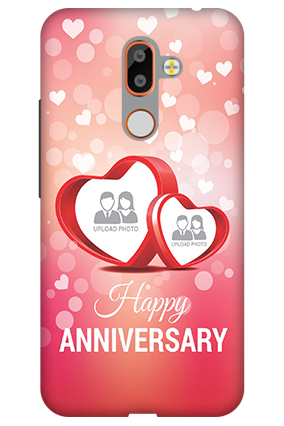 Customize 3D-Nokia 7 Plus Floral Hearts Anniversary Mobile Cover
