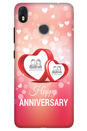 3D-Infinix Hot S3 Floral Hearts Anniversary Mobile Cover