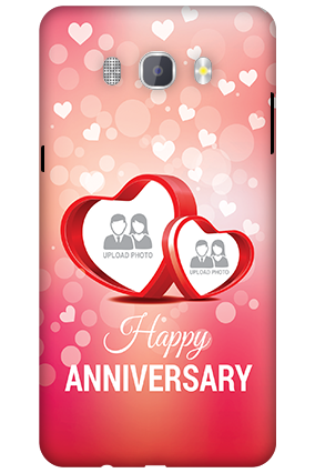 3D-Samsung Galaxy J7 New Edition 2016 Floral Hearts Anniversary Mobile Cover