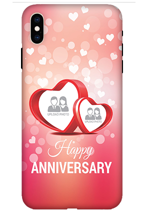 Apple iPhone XS Max Floral Hearts Anniversary Mobile Cover