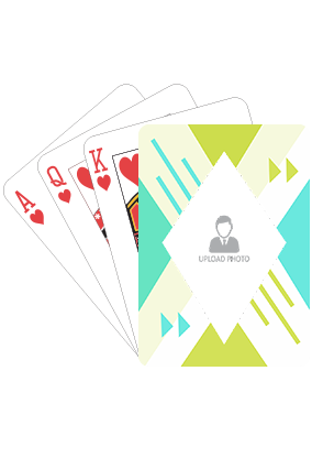 Abstract Green and Sea Green Playing Cards