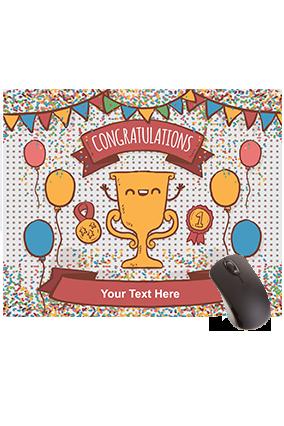 Congratulations Rectangular Mouse Pad