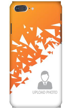 3D - Apple iPhone 8 Plus Orange and White Plastic Mobile Cover