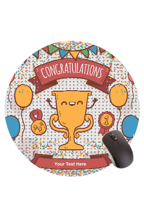 Congratulations Round Mouse Pad
