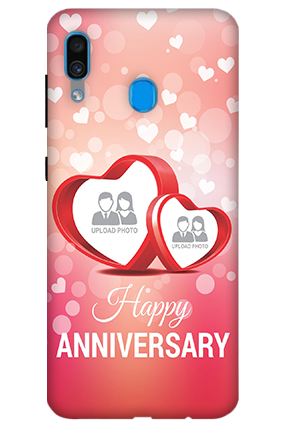 3D-Samsung Galaxy A30 Floral Hearts Anniversary Mobile Covers