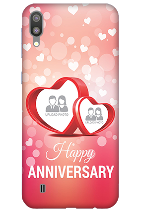 3D-Samsung Galaxy M10 Floral Hearts Anniversary Mobile Covers