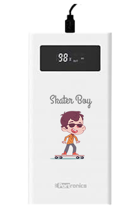 Surfing on Road Customized Jumbo 20000mAh Portronics Power Bank POR-783 White