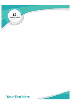 Ocean Green Customized Letterhead