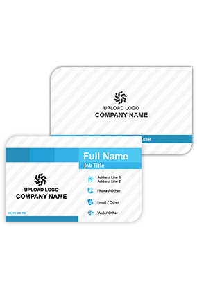 Decent Sky Blue Information and Technology Visiting Card