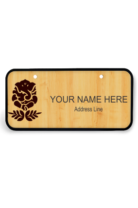 Floral Magic Wooden Name Plate