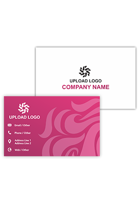 Designer Pink Personalized Saloon Visiting Card