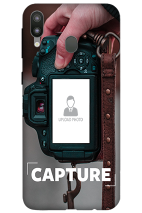 3D-Samsung Galaxy M20 I Love Photography Personalized Mobile Cover