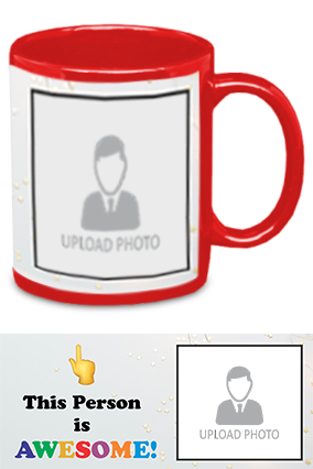 Awesome Person Customized Trendy Red Patch Mug