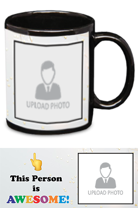 Awesome Person Customized Trendy Black Patch Mug